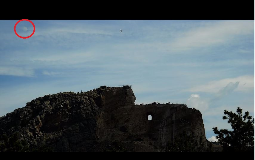 Mysterious hovering Hexagon above Crazy Horse Monument in South Dakota, Mysterious hovering Hexagon above Crazy Horse Monument in South Dakota video, Mysterious hovering Hexagon above Crazy Horse Monument in South Dakota december 2017