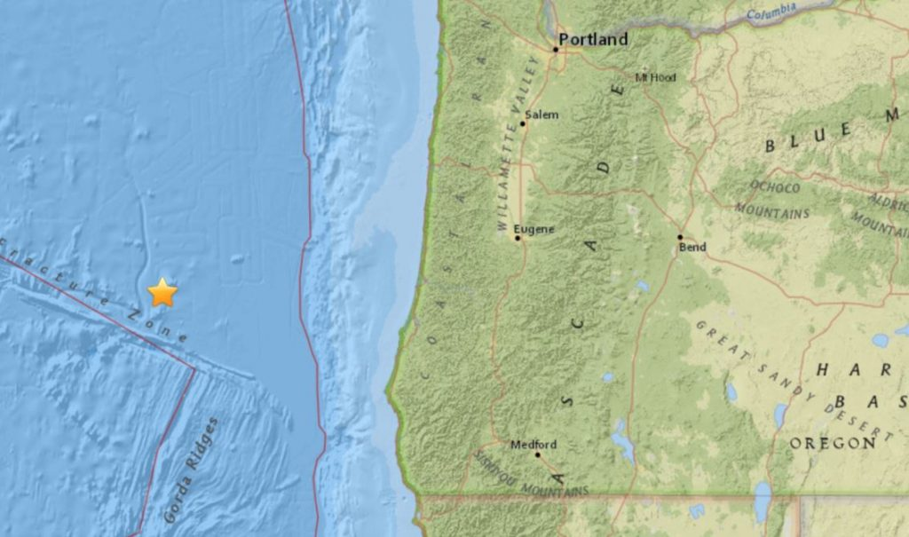 M4.9 earthquake oregon, M4.9 earthquake oregon january 28 2018, earthquake usa january 28 2018, us earthquake, us quakes, map of us earthquakes