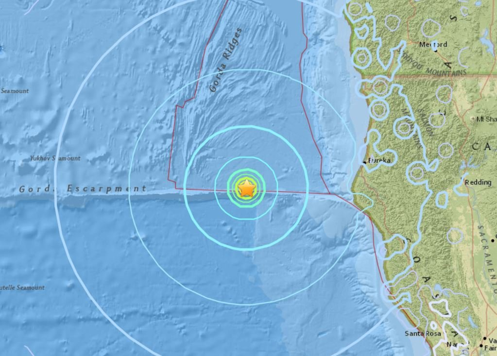 M5.8 earthquake hits off Northern California on January 25 2018, M5.8 earthquake hits off Northern California on January 25 2018 map, M5.8 earthquake hits off Northern California on January 25 2018 photo, M5.8 earthquake hits off Northern California on January 25 2018 video