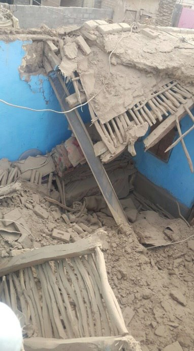Destructive consequences after M6.1 earthquake in Afghanistan on January 31, 2018.