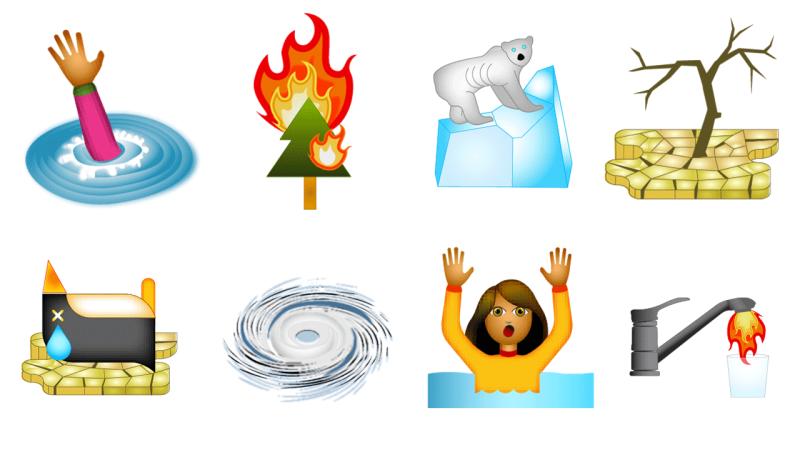 climoji, climoji climate change related emoji, climate change related emoji, climate change emoji, emoji climate, apocalyptic emoji, emoji extreme weather
