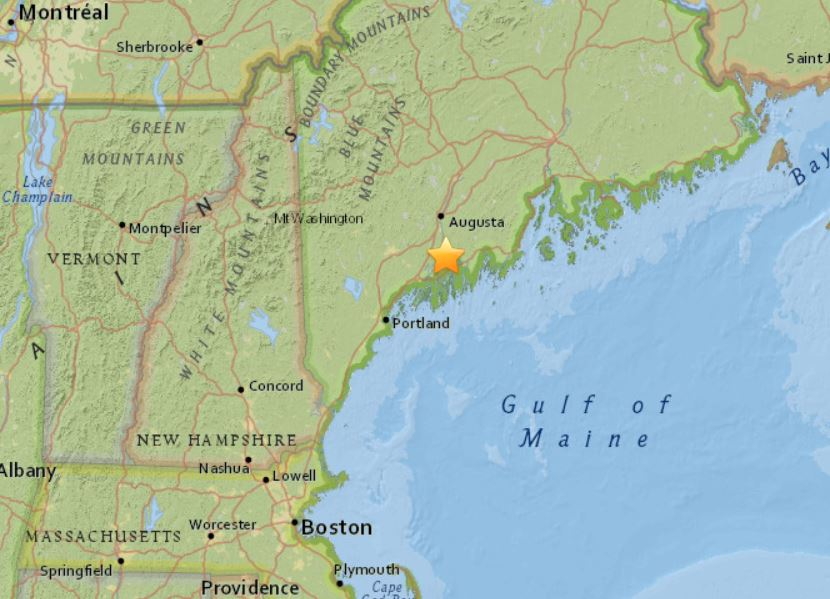 earthquake maine january 17 2018, M2.6 earthquake hits Maine on January 17 2018