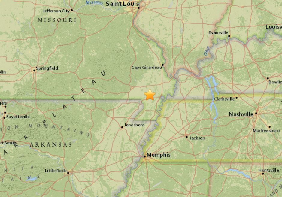 earthquake missouri new madrid jan 18 2018, missouri earthquake january 18 2018