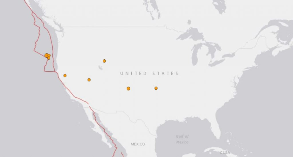 earthquake usa january 28 2018, us earthquake, us quakes, map of us earthquakes