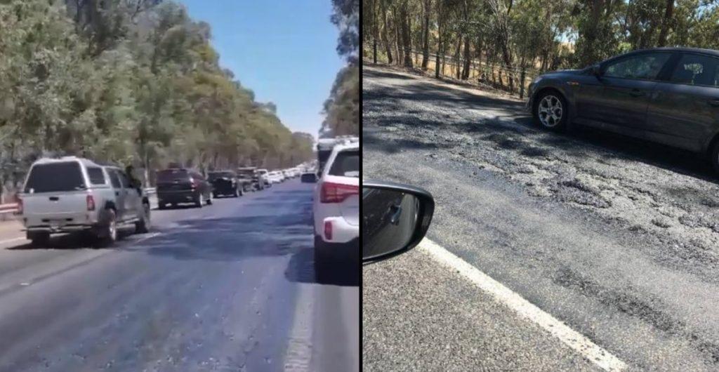 extreme heatwave australia, extreme heatwave australia causes streets to melt, streets melt in australia heatwave