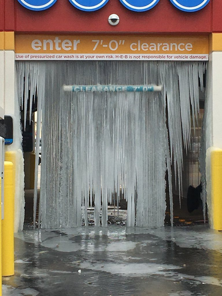 Frozen car wash in Texas on January 2 2018, Frozen car wash in Texas on January 2 2018 picture, Frozen car wash in Texas on January 2 2018 video