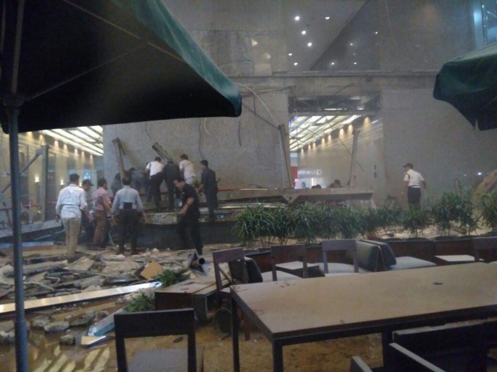 More than 70 injured after walkway at Indonesia Stock Exchange building collapses