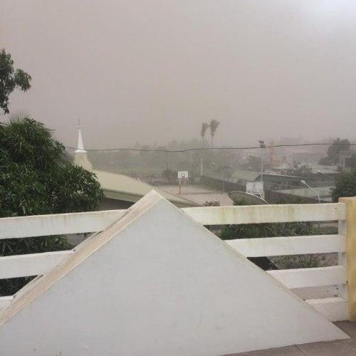 ashfall after mayon volcano eruption jan 22 2018