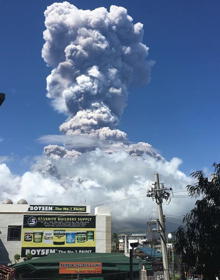 mayon volcano eruption jan 22 2018
