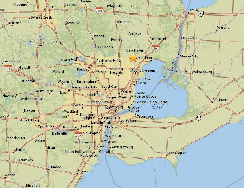 michigan fireball, michigan fireball creates earthquake, earthquake in detroit after meteor explodes over michigan, meteor produces m2.0 earthquake in Michigan january 16 2018