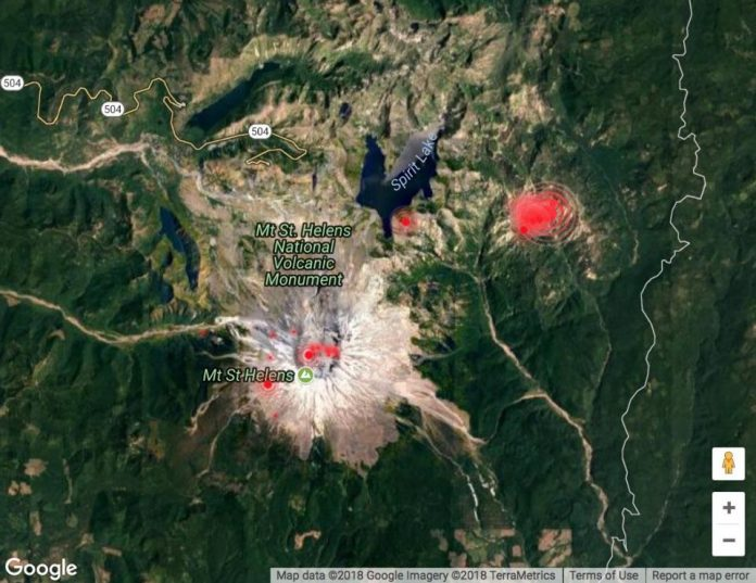 70 earthquakes hit mount st. helens, mount st. helens earthquake swarm january 2018, earthquake swarm mount St. Helens , earthquake swarm mount St. Helens january 2018