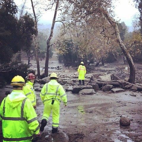 mudflow montecito southern california