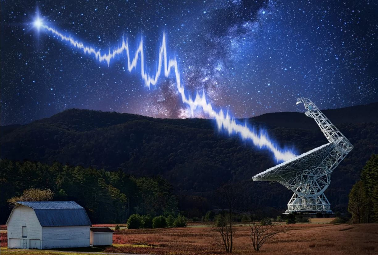 A neutron star near a black hole is pelting Earth with ...