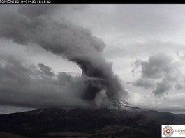 popocatepetl volcano eruption, popocatepetl, 4 explosions rattle Popocatepetl volcano on January 30
