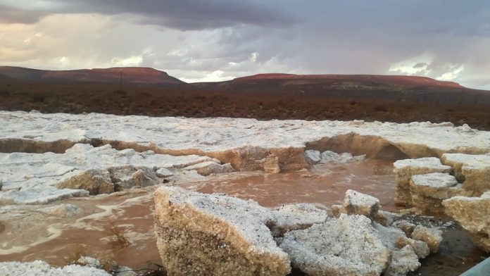 river of hail northern cape sutherland south africa, river of hail northern cape sutherland south africa video, river of hail northern cape sutherland south africa picture, river of hail northern cape sutherland south africa january 2018, drought cape town south africa january 2018