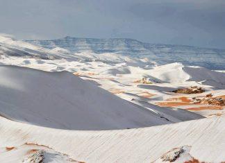 snow covers sahara desert in Algeria on January 7 2018, sahara snow algeria, sahara snow algeria video, sahara snow algeria january 2018, sahara snow algeria video