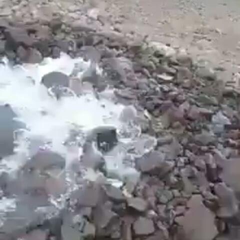 Ancient Sarasvati River disappears underground in India, river disappears underground video, Ancient Sarasvati River disappears underground in India video, Ancient Sarasvati River disappears underground in India january 2018