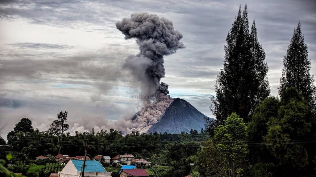 sinabung eruption january 12 2018