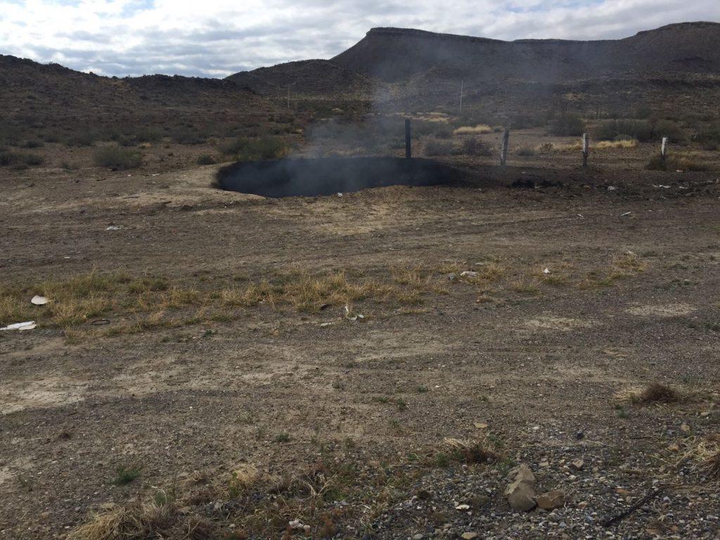 sinkhole mexico burning, smoking sinkhole mexico, meteorite impact mexico january 2018, mysterious burning sinkhole mexico january 2018