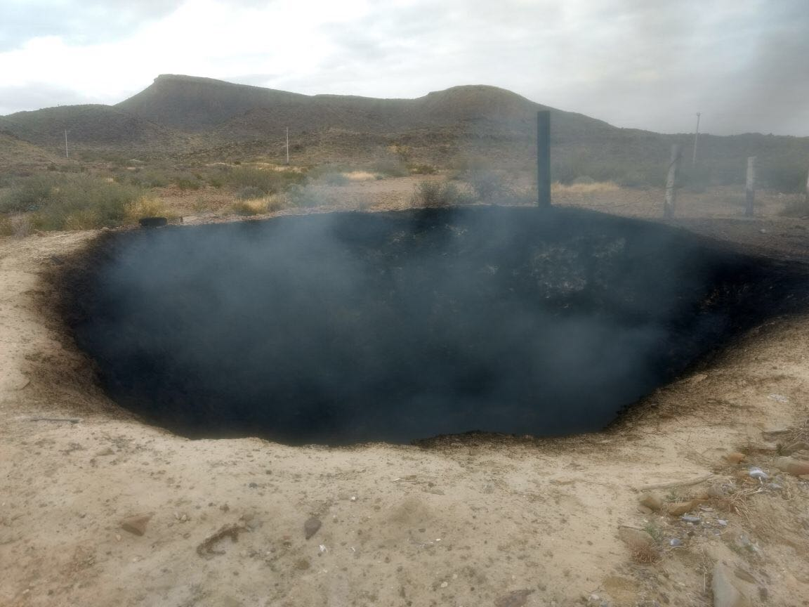 Mysterious burning crater baffles officials in Mexico