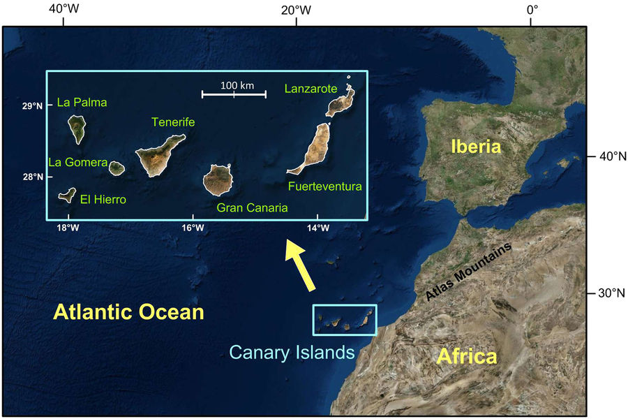 underwater fault gran canaria tenerife canary island, A large underwater fault was discovered between Gran Canaria and Tenerife in the Canary Islands Archipelago