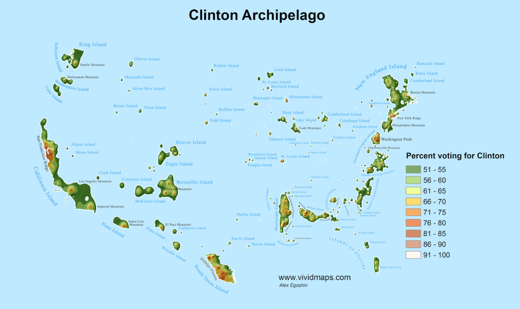 Clinton Archipelago map