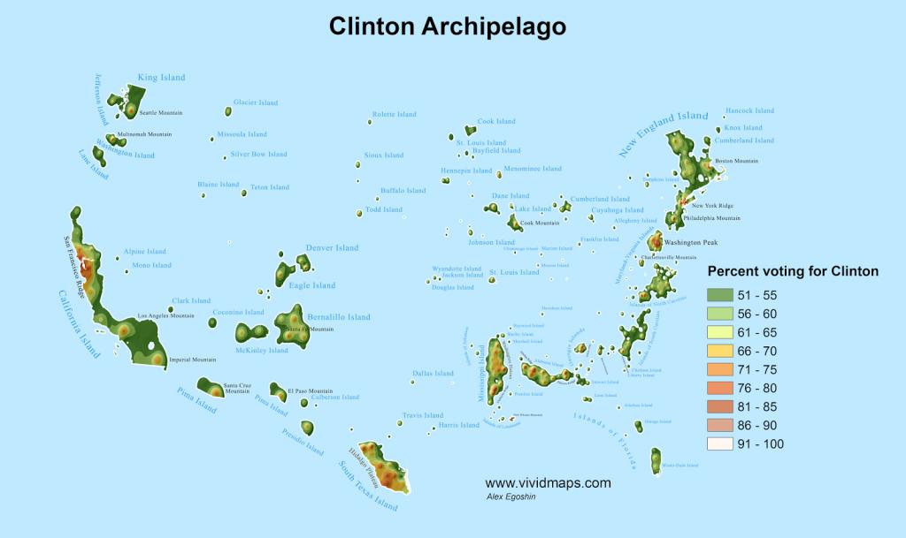 Clinton Archipelago map
