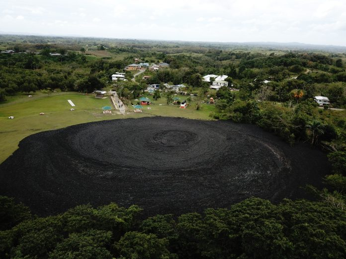 Devil Woodyard mud volcano erupts twise on February 13 2018 in Trinidad and Tobago, Devil Woodyard mud volcano erupts twise on February 13 2018 in Trinidad and Tobago pictures, Devil Woodyard mud volcano erupts twise on February 13 2018 in Trinidad and Tobago video