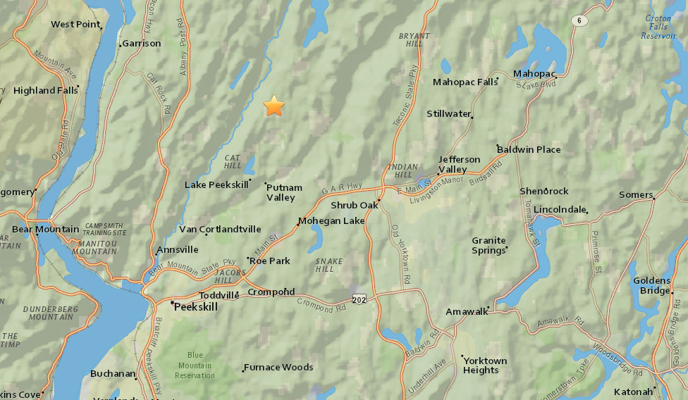 M2.2 earthquake boom New York, M2.2 earthquake boom putnam valley New York