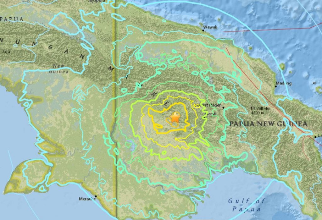 M7.5 earthquake papua new guinea, M7.5 earthquake papua new guinea february 25 2018, M7.5 earthquake papua new guinea map
