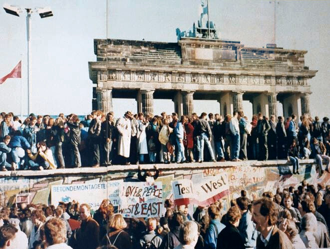 The Berlin Wall has now been down longer than it was up, berlin wall brandenburg gate 1989, berlin wall is