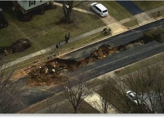 fairfax sinkhole, fairfax sinkhole video, fairfax sinkhole picture