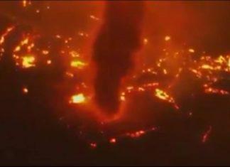 Fire Whirls during Randolph, Arizona wildfire