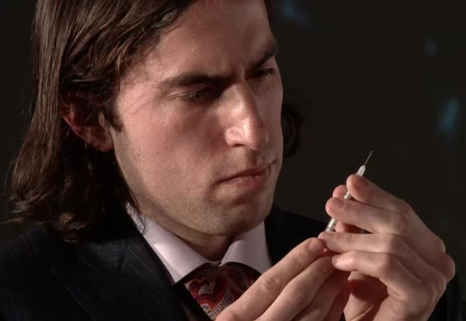 Traywick prepares the injection of Herpes, herpes treatment live injection