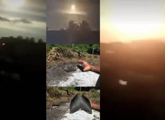 Brazil UFO, ufo sightings, ufo february 2018, Brazil UFO explodes in a bright flash of light and falls from the sky in Bahia