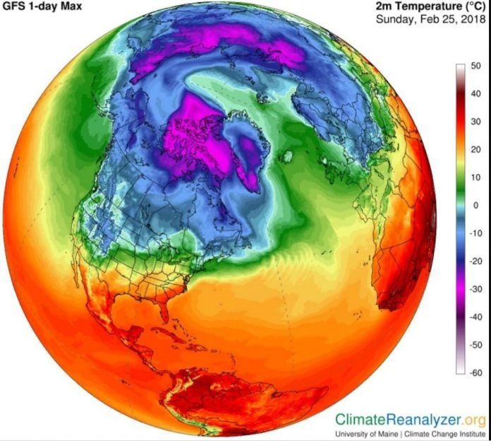 Temperature anomaly: North Pole surges above freezing in the dead of winter stunning scientists, north pole temperature anomaly, north pole hot weather, extremely high temperature north pole february 2018