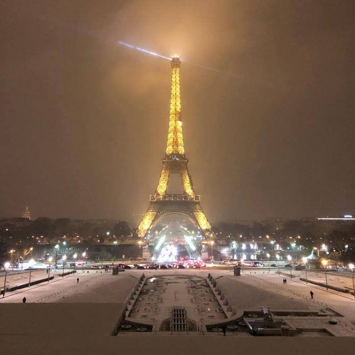 paris snow, paris under snow, snow paris, snow paris february 2018