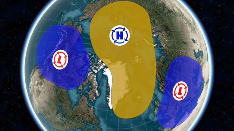 polar vortex split, polar vortex splits in two, polar vortex has split in two