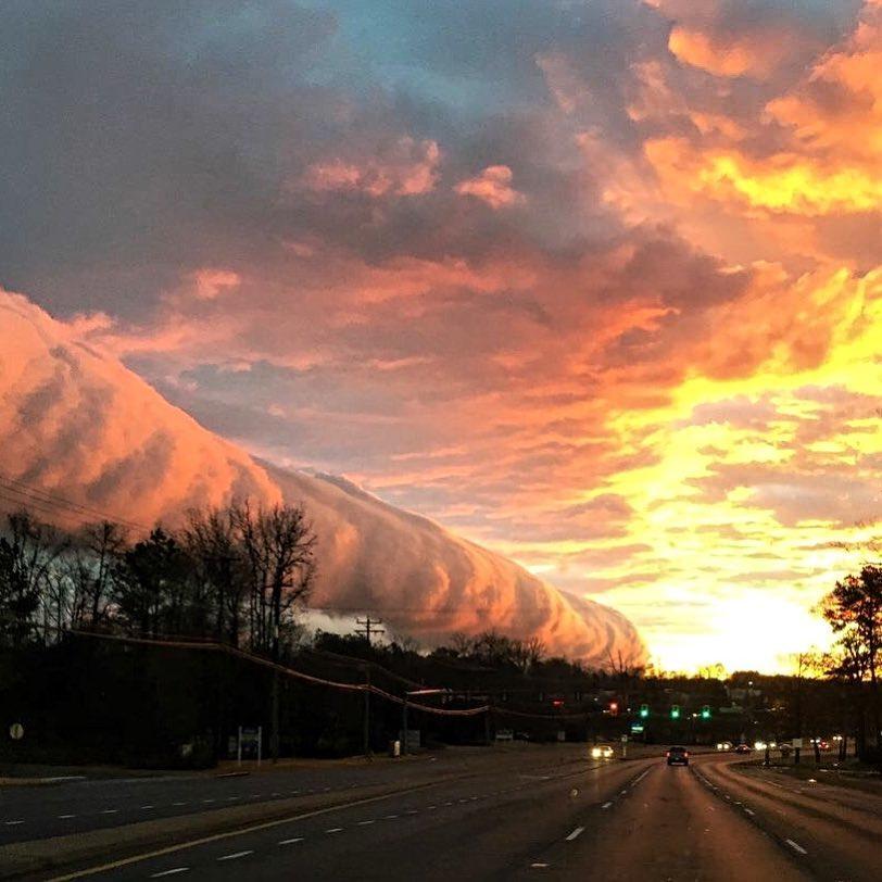 roll clouds virginia, roll clouds richmond virginia, roll clouds virginia february 5 2018, roll clouds virginia february 2018 photo