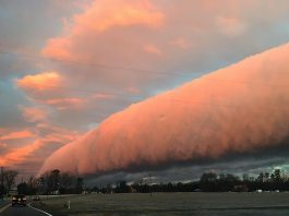 roll clouds virginia, roll clouds richmond virginia, roll clouds virginia february 5 2018, roll clouds virginia february 2018 photo