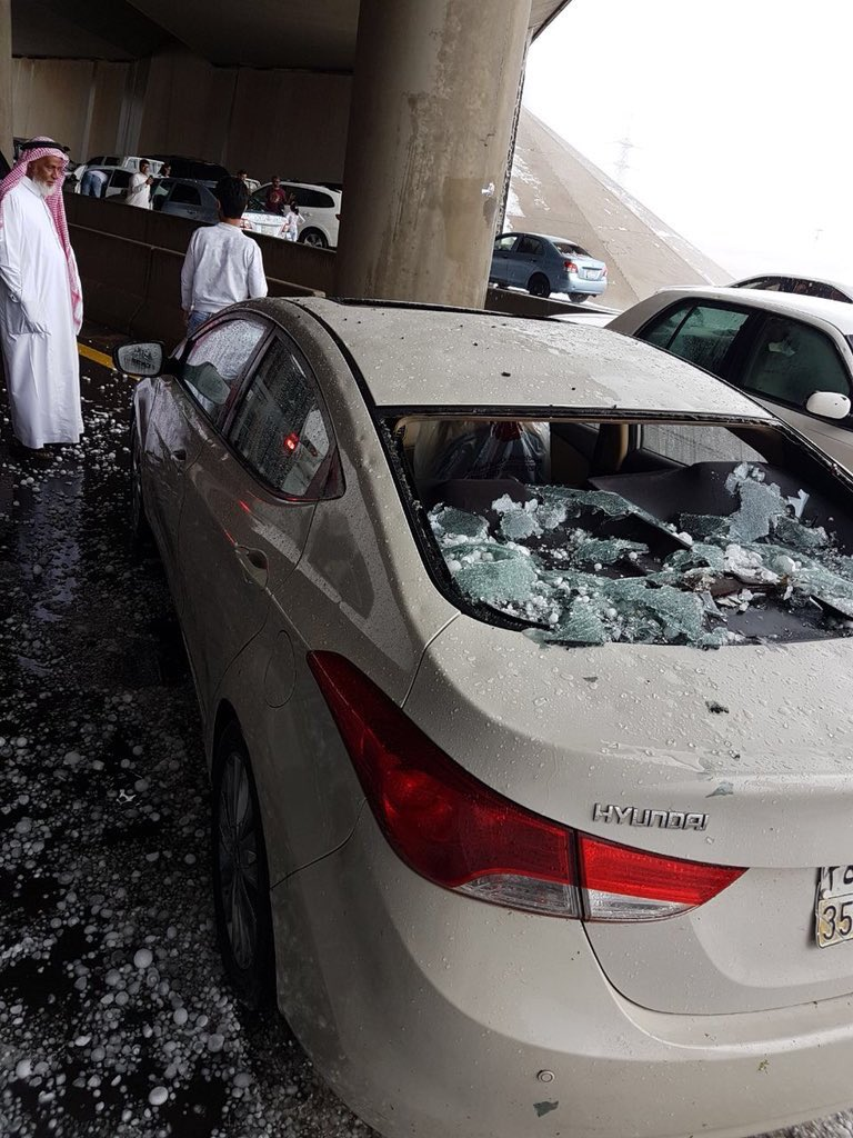 powerful hailstorm pounds medina with huge stones