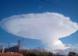 star trek cloud, star trek cloud picture, USS Enterprise appears over Guatemala on February 18 2018