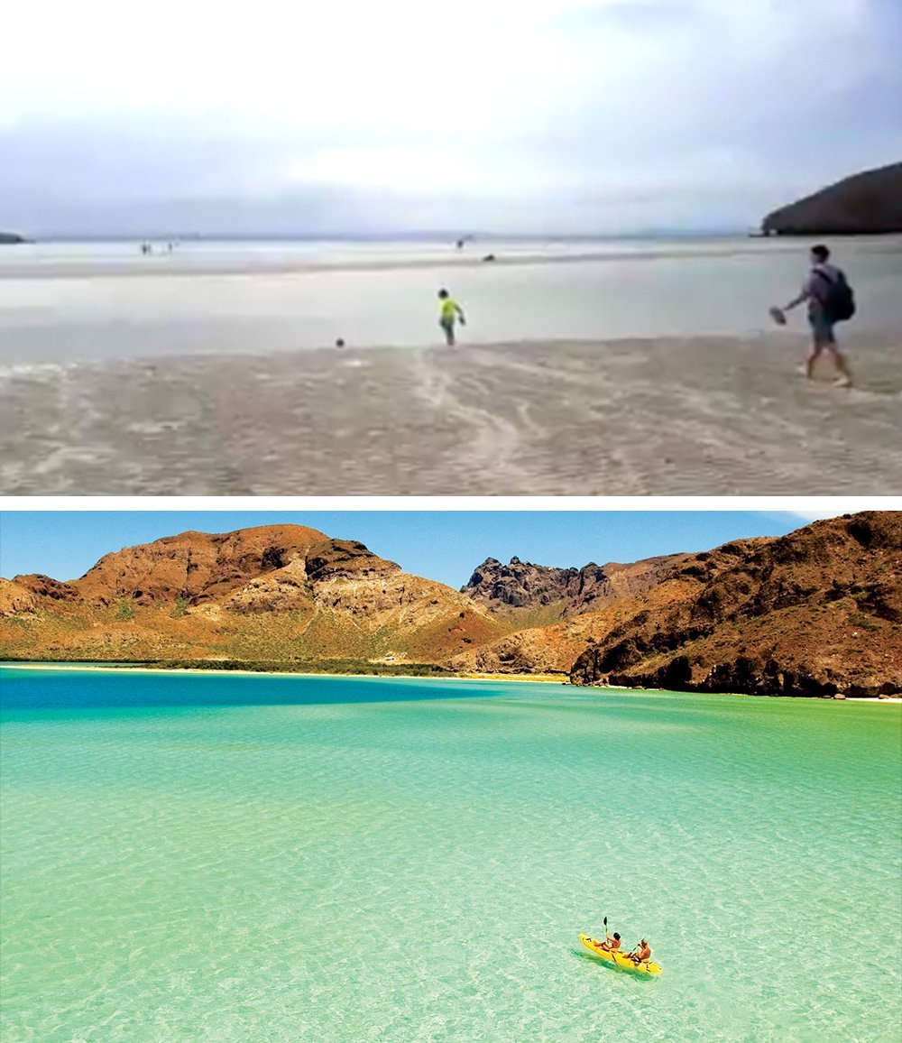 Playa Balandra Water Disappears In La Paz Baja California Sur