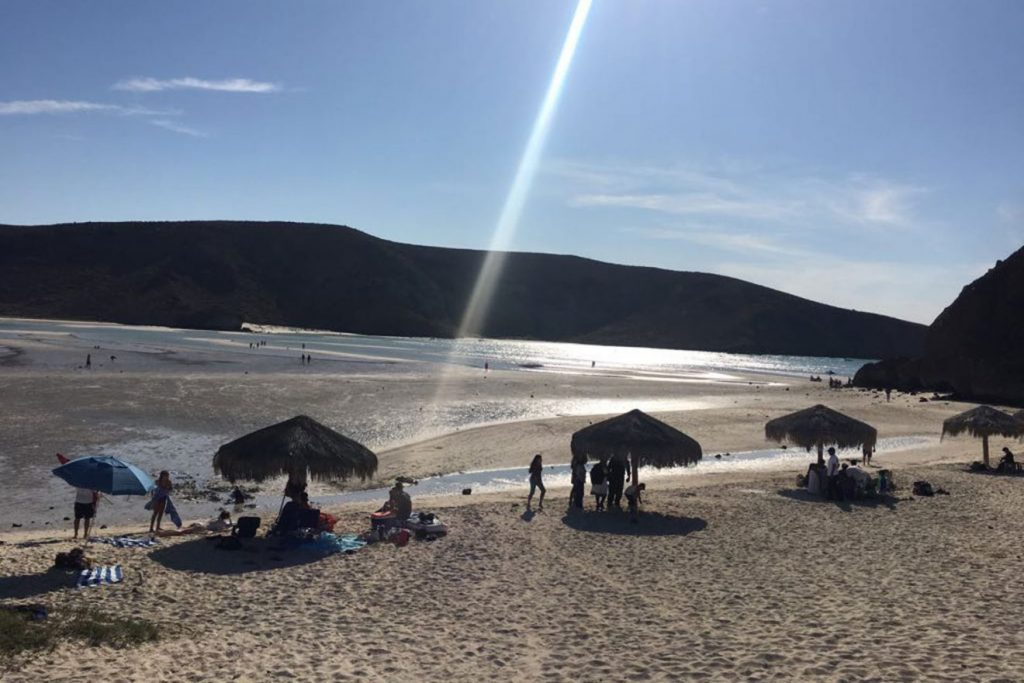 Playa Balandra, Playa Balandra water disappears, Water disappears at Playa Balandra in Baja California, Fenómeno retroceso de mar en playa Balandra municipio de La Paz Baja California Sur