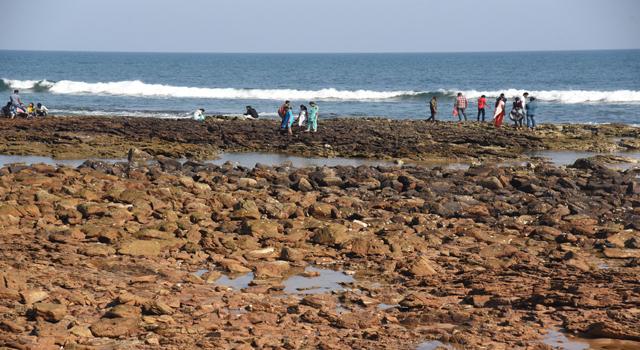 water receding india rushikonda beach, water receding india rushikonda beach photo, water receding india rushikonda beach video