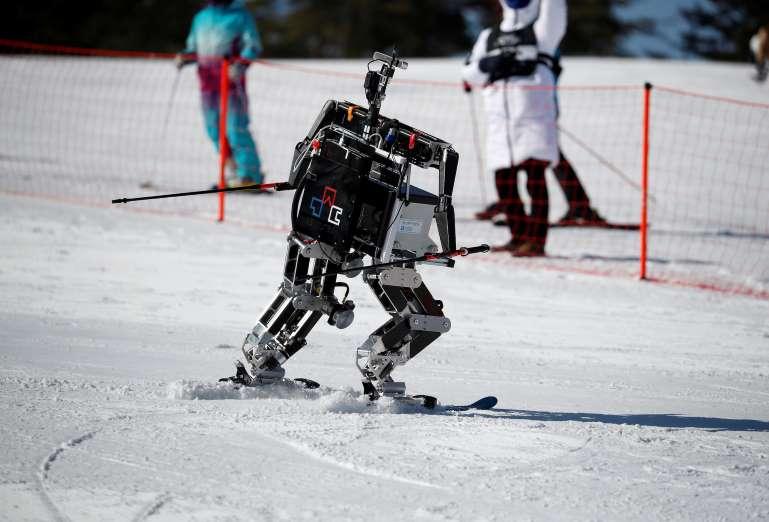 Robot olympics in South Korea, robot ski olympics south korea, south korea robot ski olympics