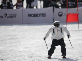 Robot olympics in South Korea, robot ski olympics south korea, south korea robot ski olympics