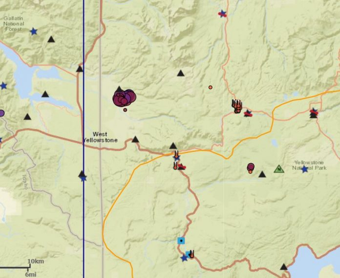 yellowstone earthquake swarm february 2018, yellowstone earthquake swarm february 2018 map, yellowstone earthquake swarm february 18 2018