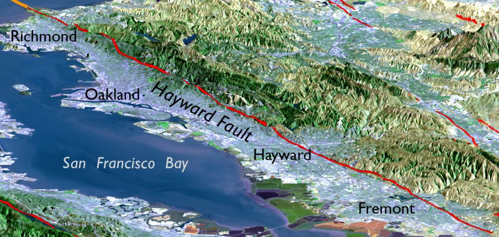 hayward fault california, hayward fault california risk, hayward fault california threat