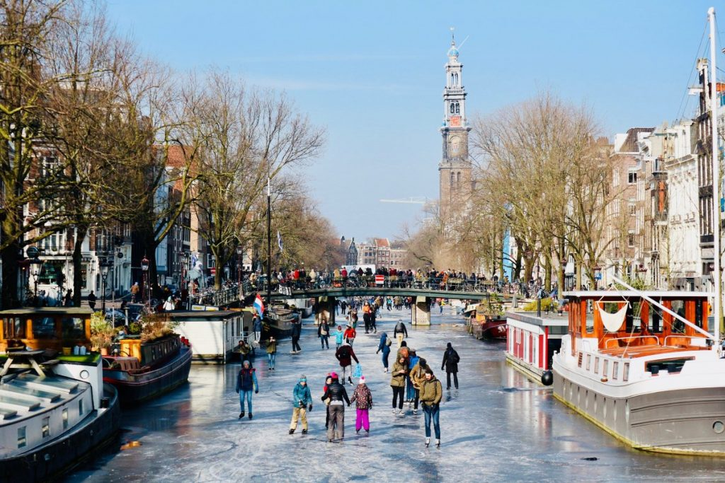 canals freeze amsterdam, canals freeze amsterdam 2018, canals freeze amsterdam march 2018